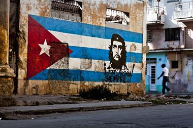 Wall painting in Cuba