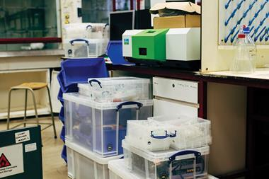 An image showing packed up laboratory supplies