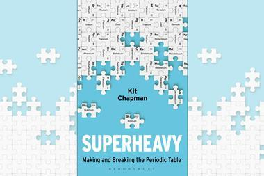 An image showing the Superheavy book cover