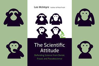A picture of the book cover of The scientific attitude
