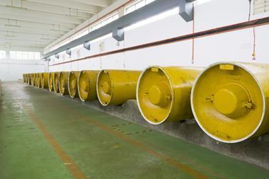 An image showing chlorine storage tanks