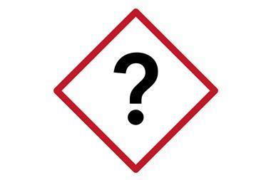 Question mark warning symbol Index
