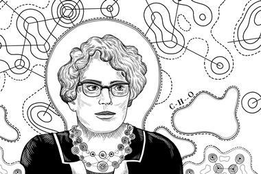An illustrated portrait of June Sutor