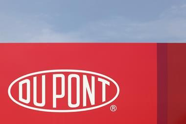Dupont sign on a panel