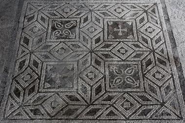 A picture showing part of the mosaic being studied