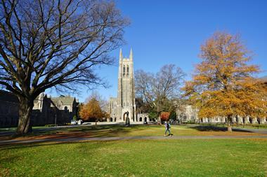 A picture showing Duke University