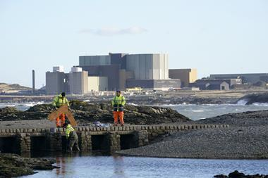 An image showing a general view of the Wylfa Nuclear Power Station