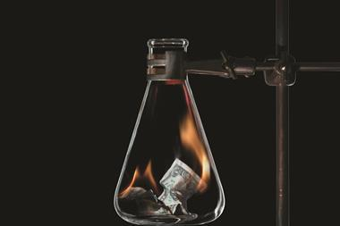Burning money in conical flask