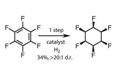 hydrogenation of C6F6