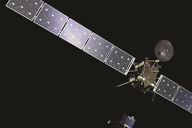 Rosetta at comet portrait