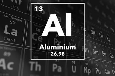 Periodic table of the elements – 13 – Aluminium