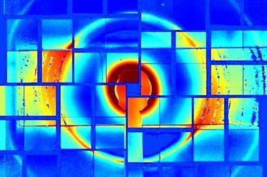 X-ray diffraction pattern of square ice