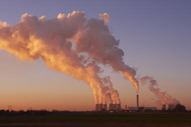 Coal fired power station sunset Index