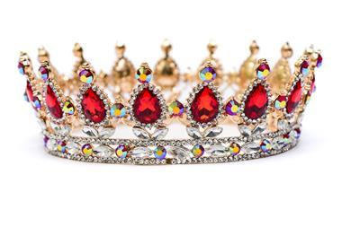 Gold crown with gemstones