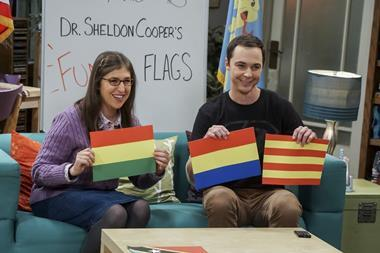 An image of Drs Sheldon Cooper and Amy Farrah Fowler from CBS comedy The Big Bang Theory