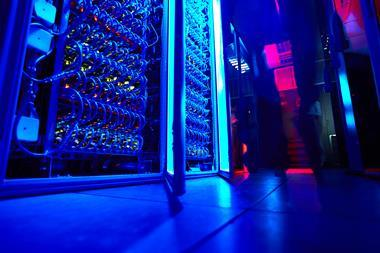 A photograph of supercomputer servers
