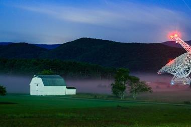 A photograph of Green Bank Telescope