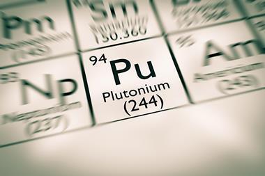Plutonium element on periodic table - Index