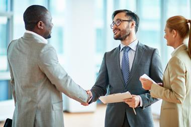 Sealing a deal with a handshake