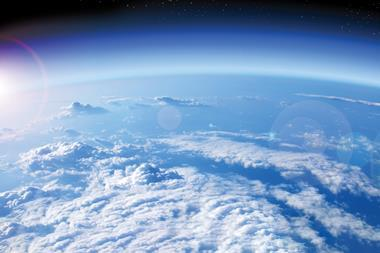 A photograph of the Earth from space