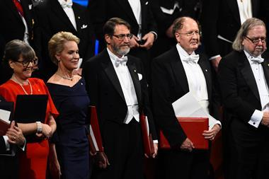 An image showing the 2018 Chemistry Nobel prize winners