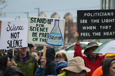 Thousands of people marched and held signs during the March for Science on Earth Day to defend the vital role of science in our lives.