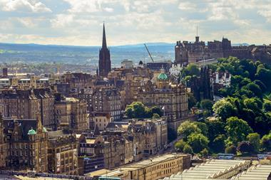 A photograph of Edinburgh's Old Town