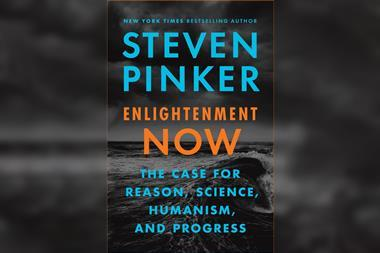 Front cover of Enlightenment now by Steven Pinker