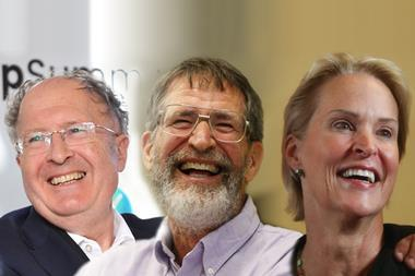 Composite image showing the three joint 2018 Nobel prize winners
