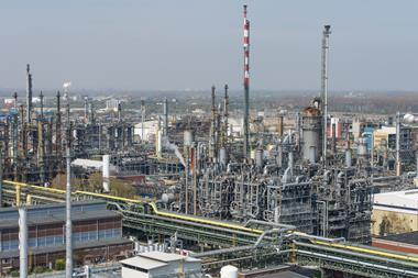 An image showing the BASF plant in Ludwigshafen, Germany