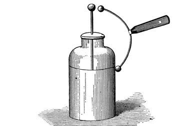 Illustration of a Leyden jar