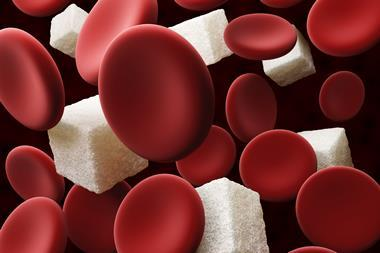 An image showing sugar cubes and red blood cells