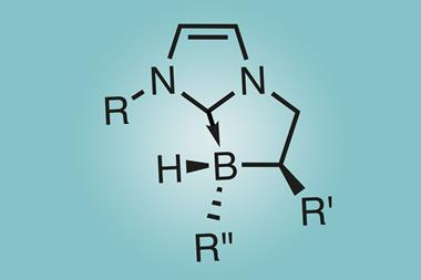 An image showing the structure of a NHC-borane