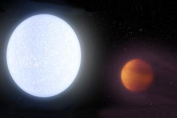 Image of Atomic iron and titanium in the atmosphere of hot jupiter 3 to 2