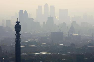 Air pollution hangs over London