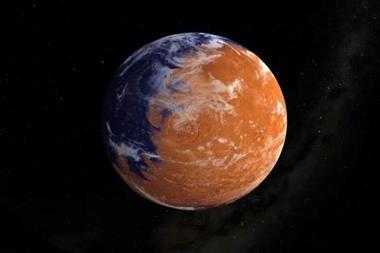 Image of Mars taken by the Maven probe