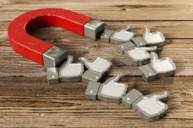 3D Illustration Magnet 'Like' Icons