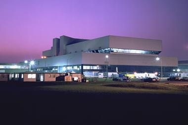 JET main building at night time