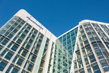 A photograph of the AkzoNobel Center in Amsterdam