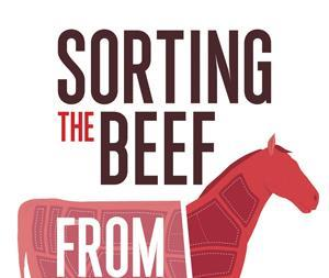 Sorting the beef from the bull   book cover