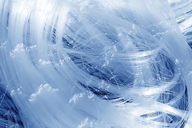 Nylon thread texture as background, closeup photo