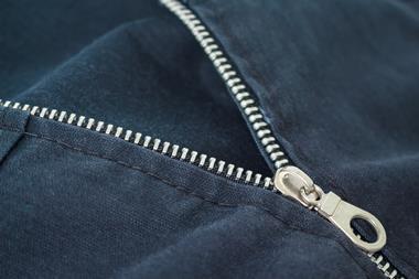 A half open zip