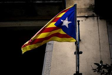 The flag of independent Catalonia