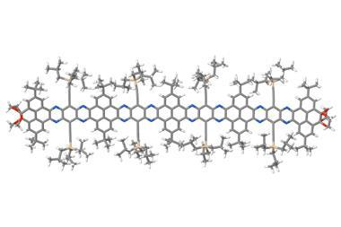 Nanoribbon formed by 20 linearly fused aromatic rings