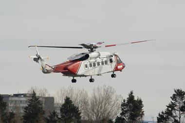 An image showing a Sikorsky S-92 Helicopter