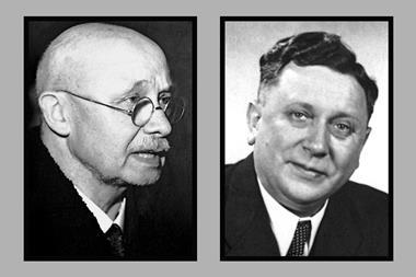 Image of Otto Diels and Kurt Alder, who created the Diels–Alder reaction