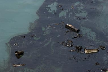 oil spill on water
