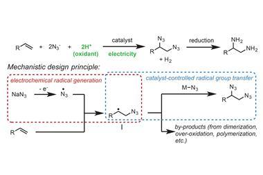 Propose mechanistic design principle for 1,2-diamine synthesis