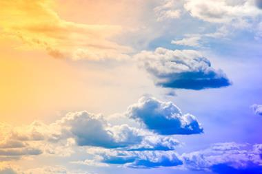 Image of a multi coloured sky with yellow and blue colours
