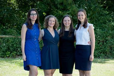Four of CatSci's female employees